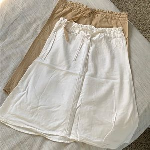 Set of 2 linen skirts from H&M
